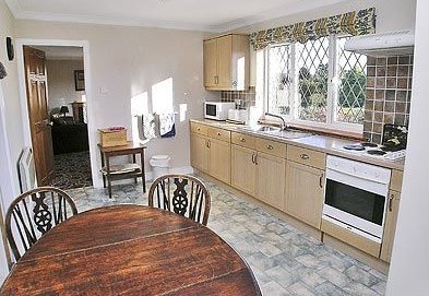 Kitchen of the self-catering cottage