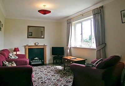 Sitting room at Bournestream self-catering bungalow